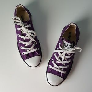 Converse Canvas Low Top Sneakers Grape Purple 4/6
